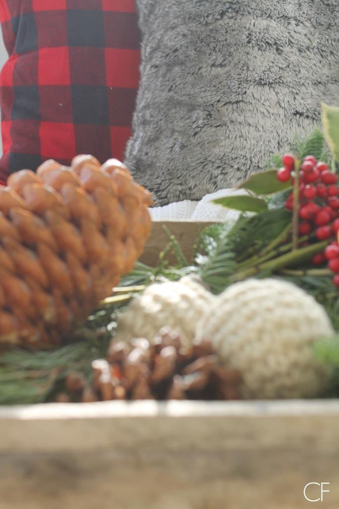 Rustic Christmas Farmhouse Porch- Cozy & Natural
