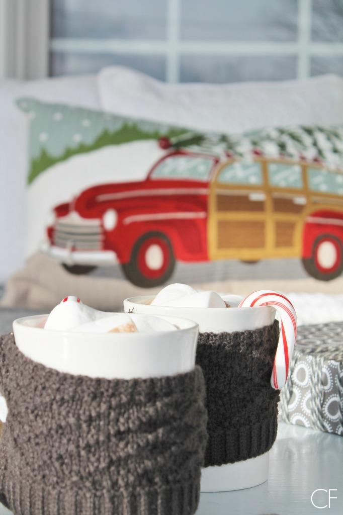 Rustic Christmas Farmhouse Porch & Hot Cocoa {City Farmhouse}