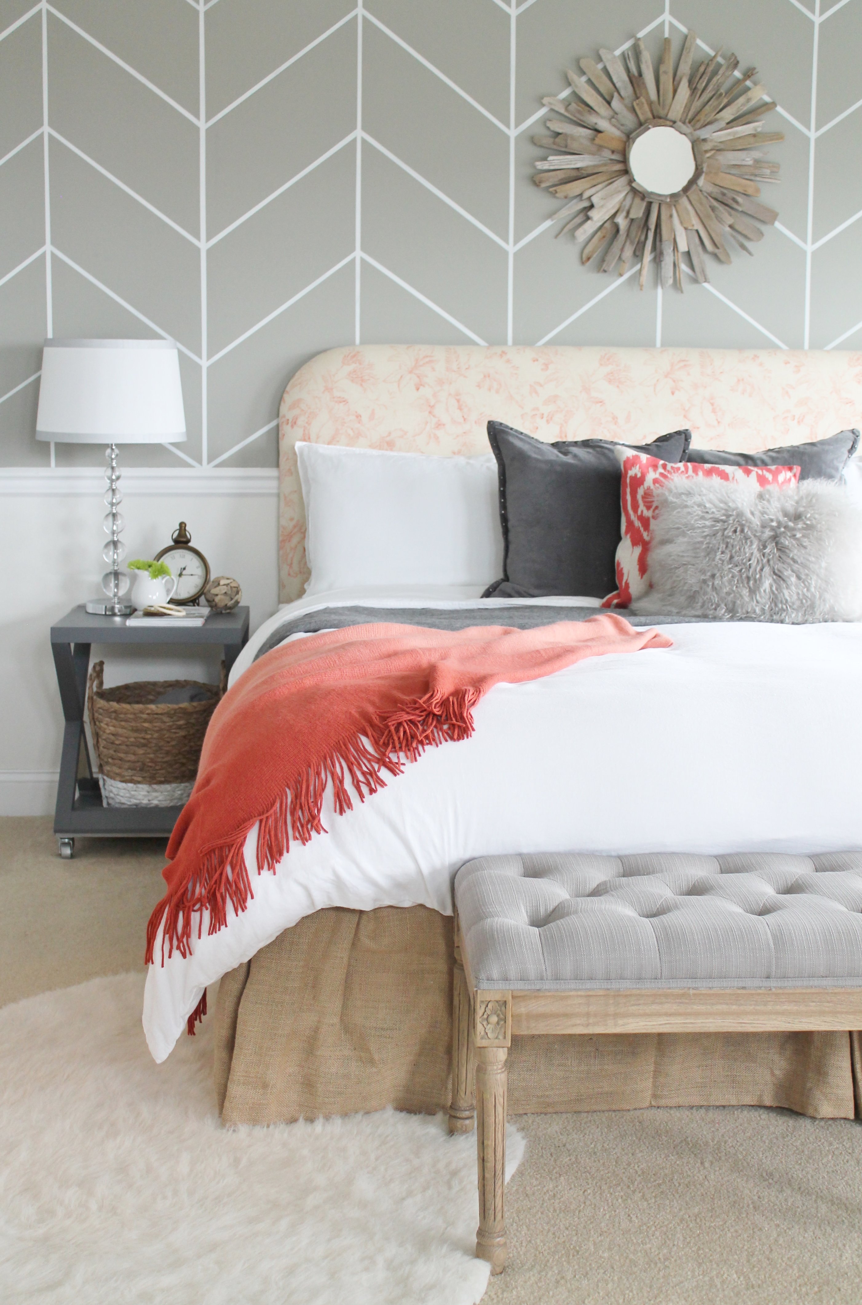 Rustic Master Bedroom: Rustic Chic Budget Friendly Master Makeover