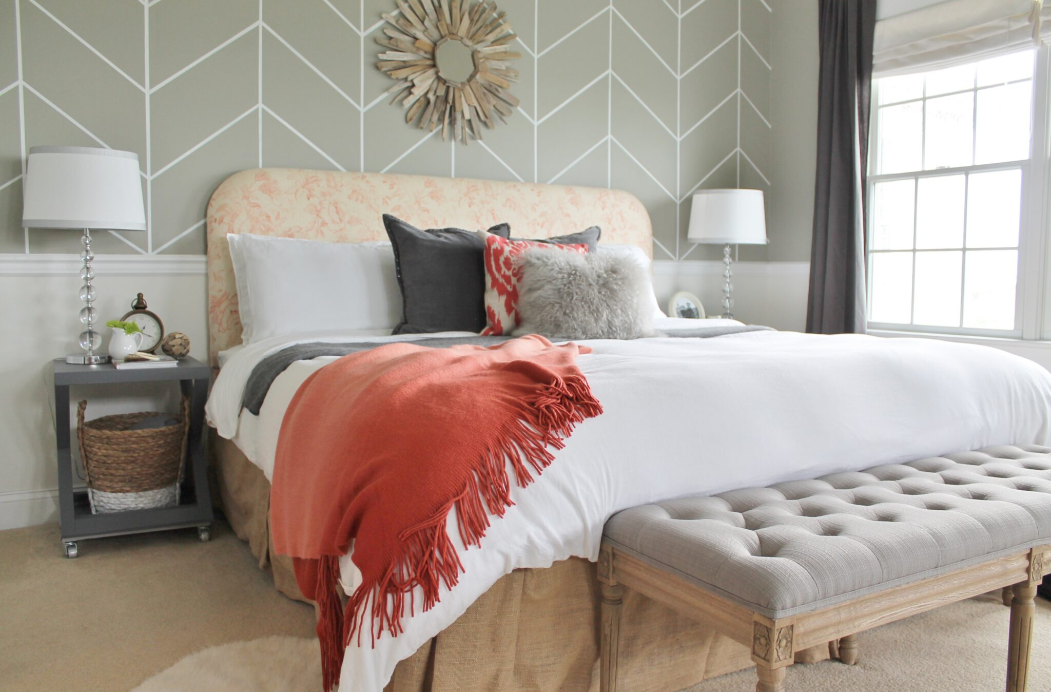 Rustic Chic Master Bedroom Makeover Pillows From West Elm