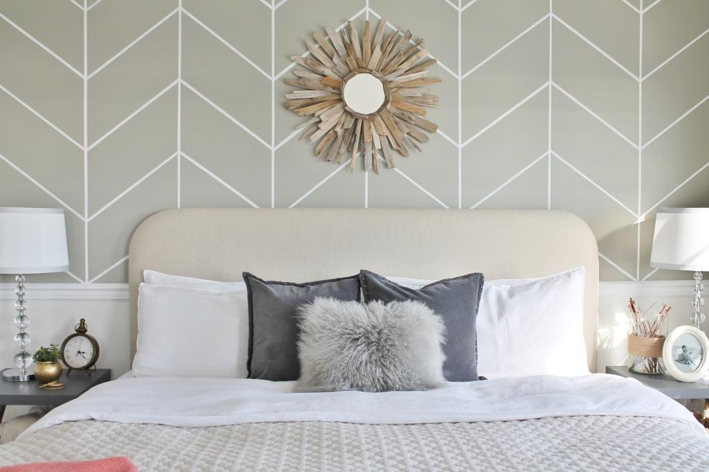 DIY Linen Headboard Update- Master Bedroom Makeover City Farmhouse