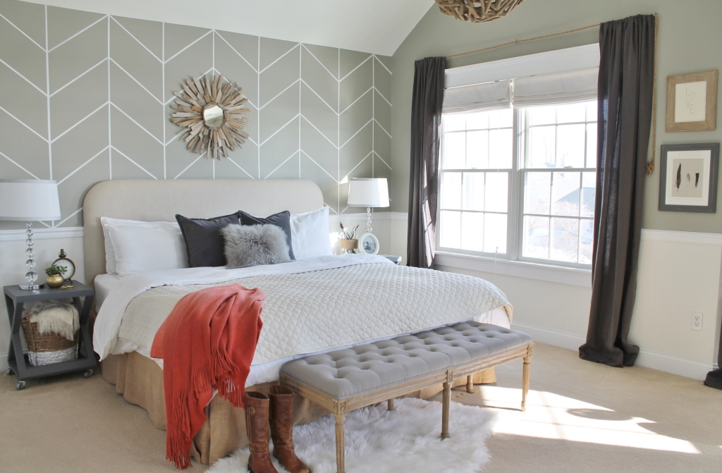 Farmhouse Chic Master Bedroom Budget Friendly