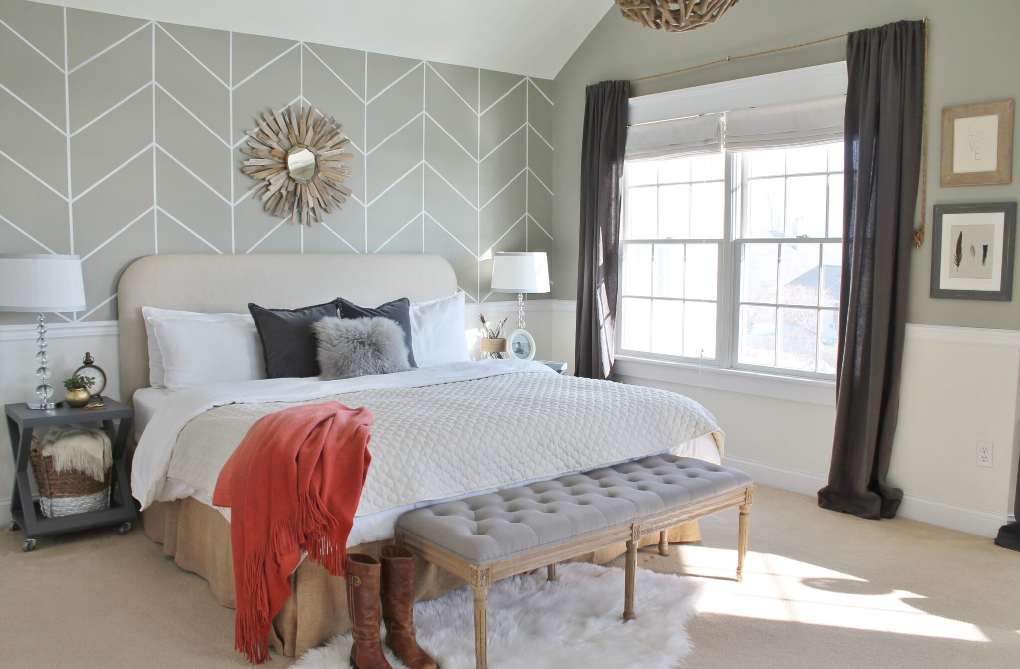 Mini Master Makeover {In Less Than 30 Min} - City Farmhouse on Master Bedroom Farmhouse Bedroom Images  id=38194