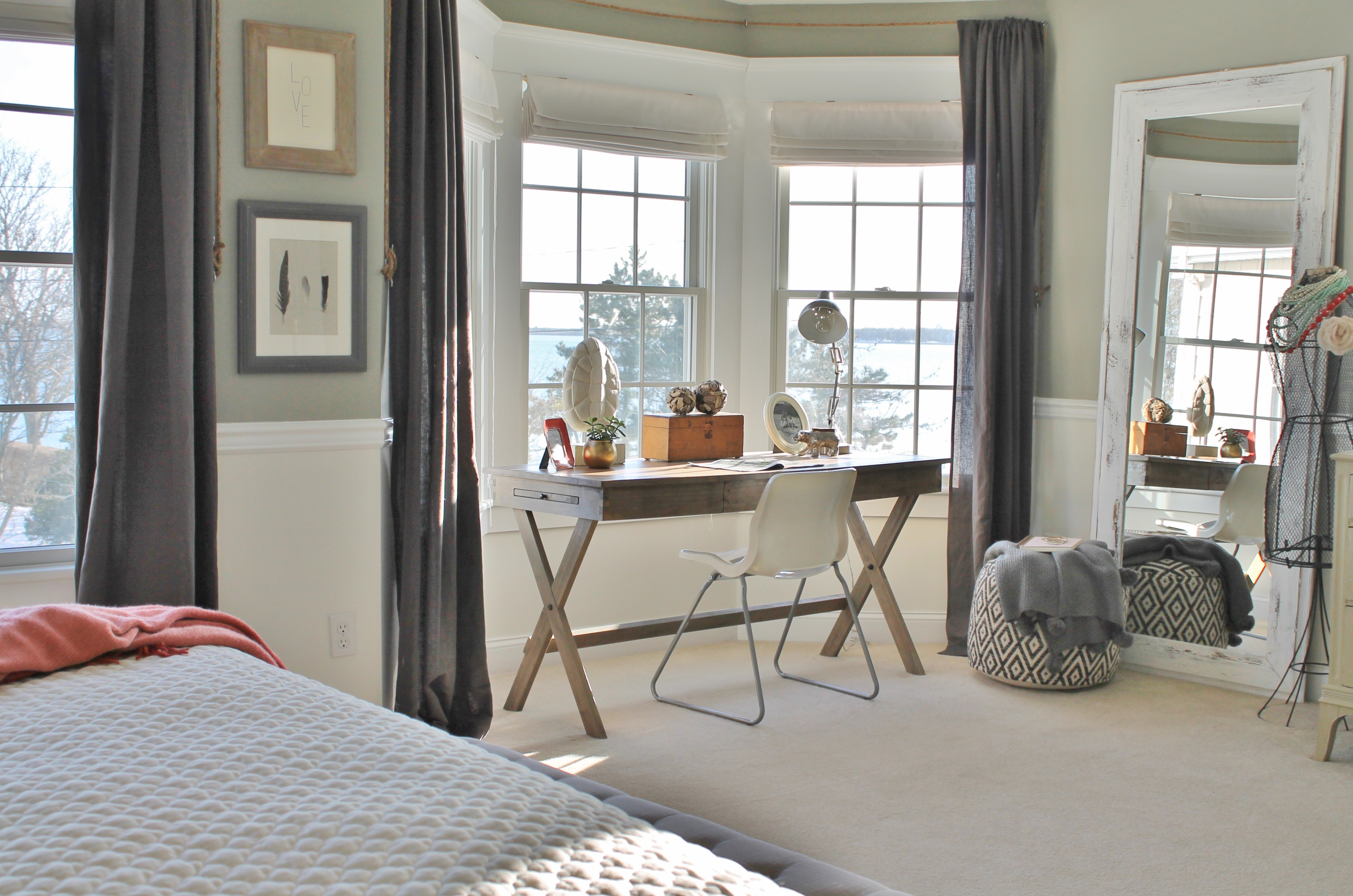 Beau Campaign Desk Cost Plus  Rustic Chic Master Bedroom