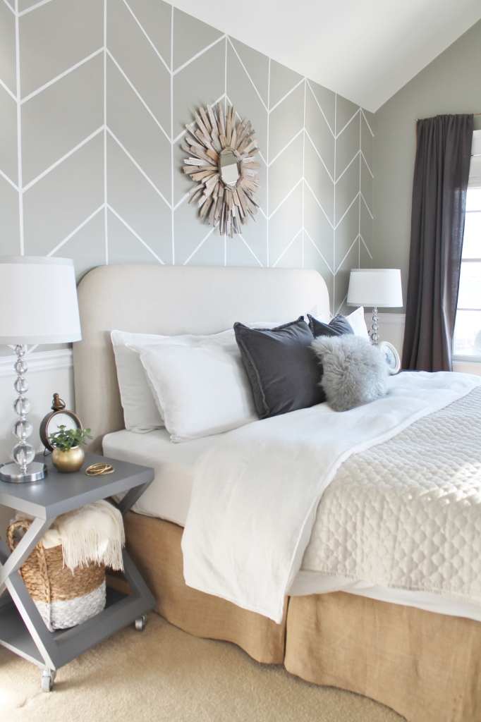 Neutral Bedroom Makeover -Farmhouse Chic