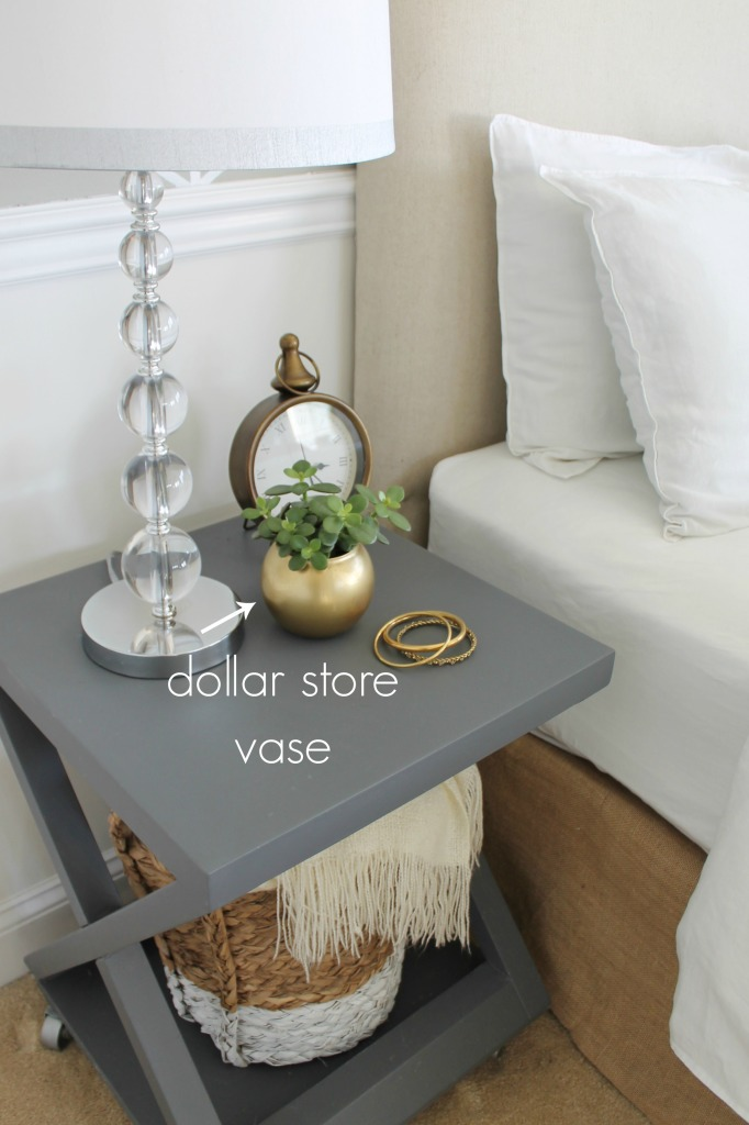 Gold vase-the dollar store