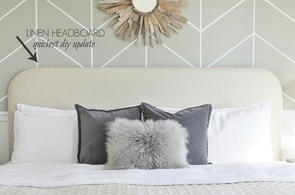 Linen Headboard-quickest DIY update