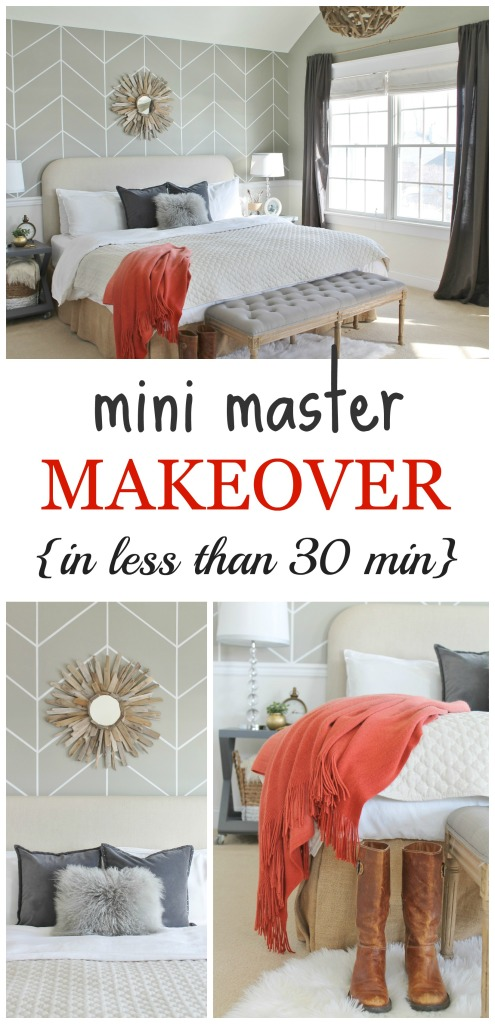Mini Master Makeover {in less than 30 minutes}