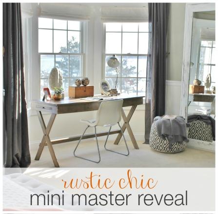 Rustic Chic Mini Master Reveal-My Desk Area