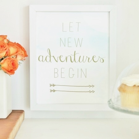 Spring Vignette Hop + Free Watercolor Printable