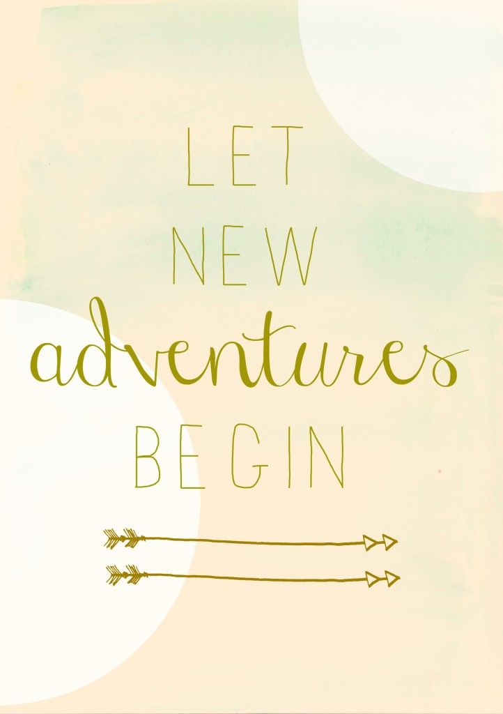 Let new adventures begin City Farmhouse free watercolor printable circles pink more
