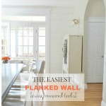 The Easiest Planked Wall {using minimal tools}