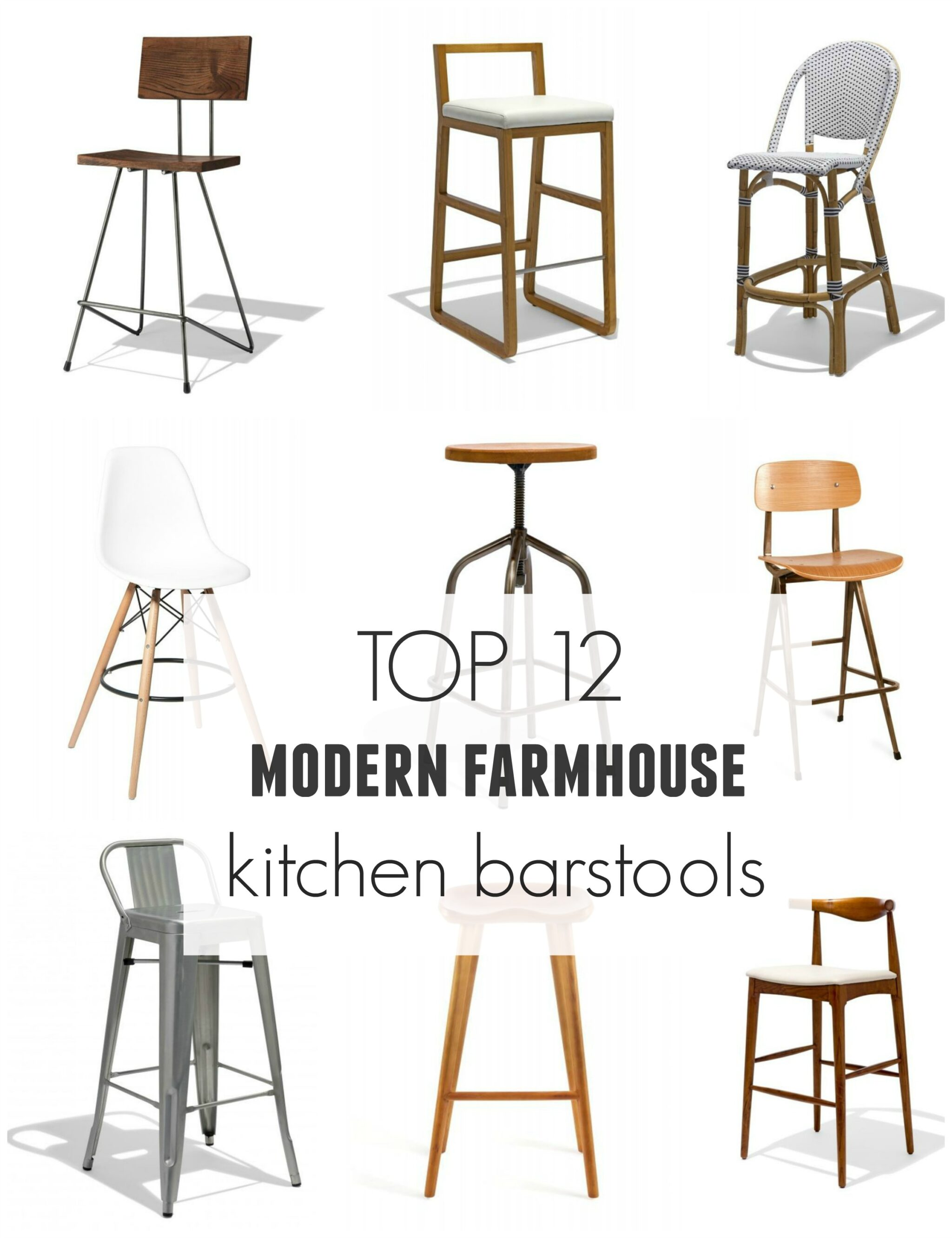 Top 12 Modern Farmhouse Barstools - City Farmhouse