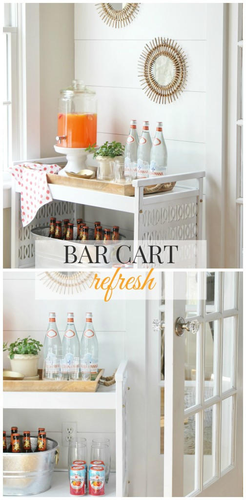 Bar Cart Refresh With Rattan