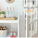 Bar Cart Refresh + A Little Rattan