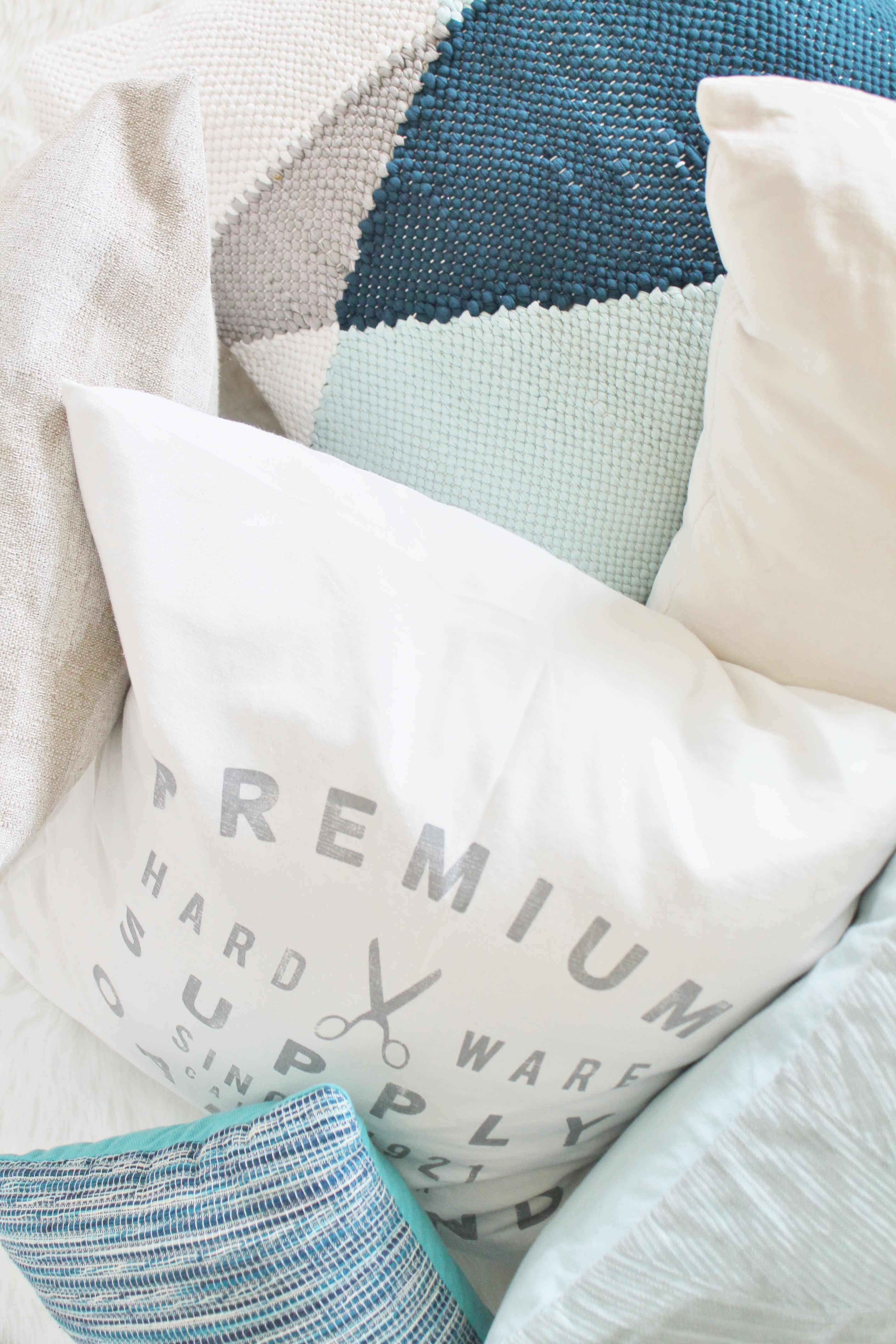 Coastal Farmhouse Get The Look With Pillows