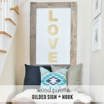 Wood Palette Gilded Sign & Nook