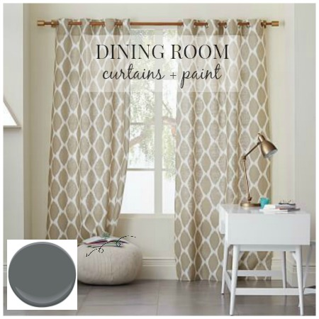 Dining Room Design-Curtains + Paint