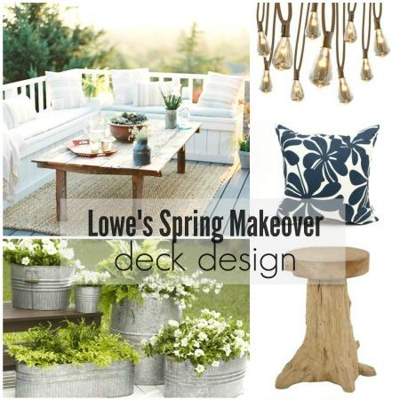 Lowe's Spring Makeover Update & Design Plans