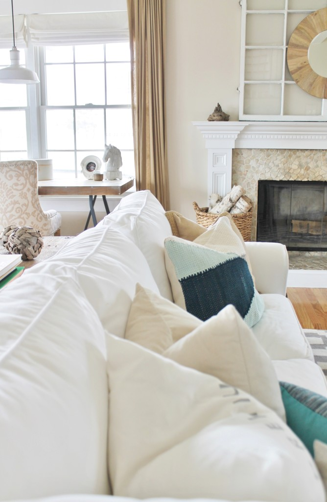 Summer Tour- White Ikea Slipcover & Pillows from West Elm and HM
