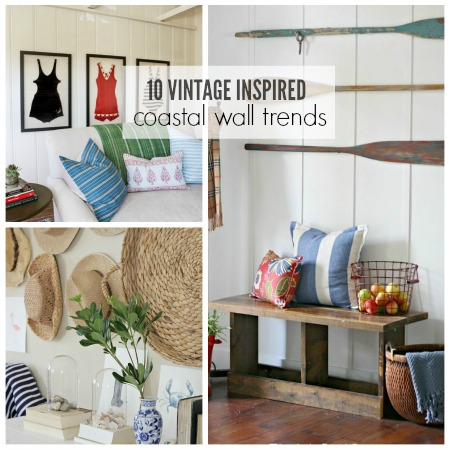 10 Vintage Inspired Coastal Wall Trends - City Farmhouse