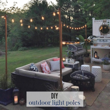 DIY Outdoor Light Poles - City Farmhouse on swimming pool post lighting, outdoor patio track lighting, outdoor patio led lighting, outdoor patio umbrella lighting, outdoor patio wall lighting, outdoor walkway post lighting, garden post lighting, outdoor patio lighting fixtures, outdoor fence post lighting, outdoor stone post lighting, outdoor patio recessed lighting,