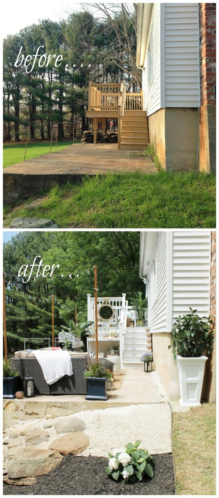 Lowe's Spring Makeover-Outdoor Oasis Before & After 2