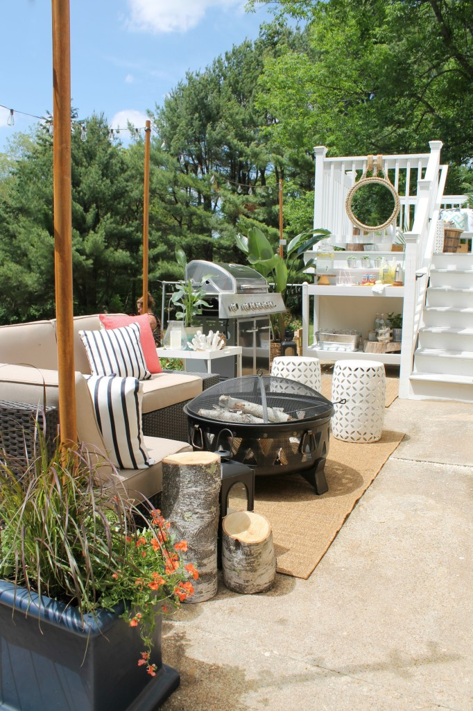 Lowe's Spring Makeover Reveal- Casual & Cozy Outdoor Seating