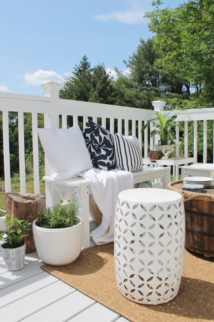 Lowe's Spring Makeover Reveal-Deck