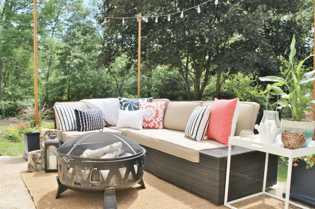 Lowe's Spring Makeover Reveal-Outdoor Sectional