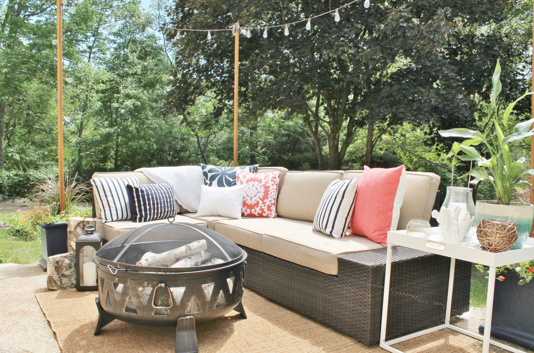 Lowe S Spring Makeover Reveal Outdoor Sectional