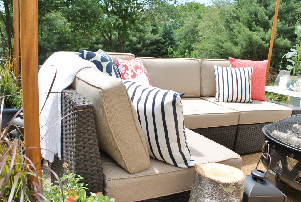 Lowe's Spring Makeover Reveal-Small Space Seating-Outdoor Sectional