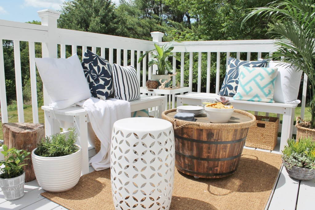 Lowe's Spring Makeover Reveal-The Deck