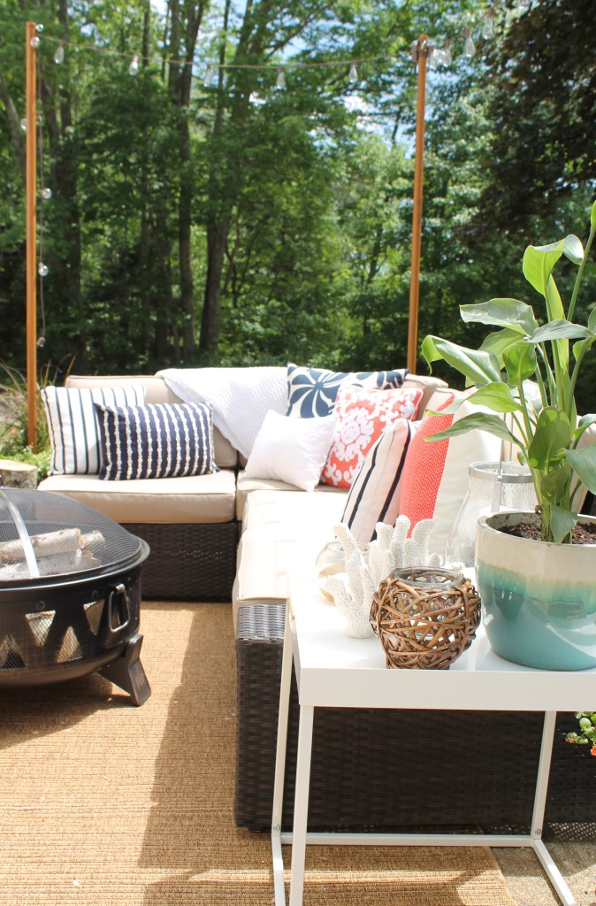 Lowe's Spring Makeover Reveal-Tropical Paradise Backyard