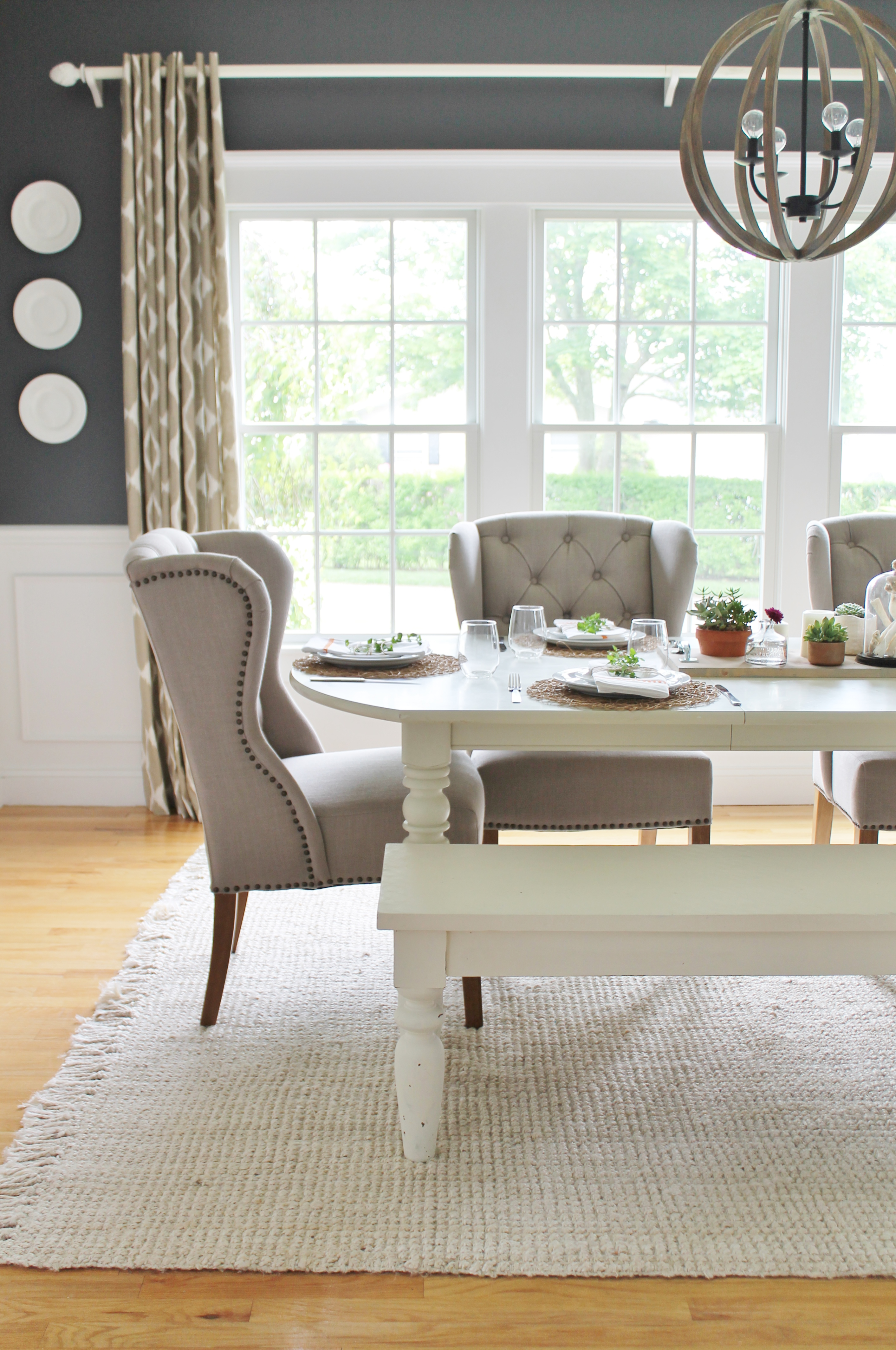 Summer Tour Dining Room Reveal Arhaus Chairs