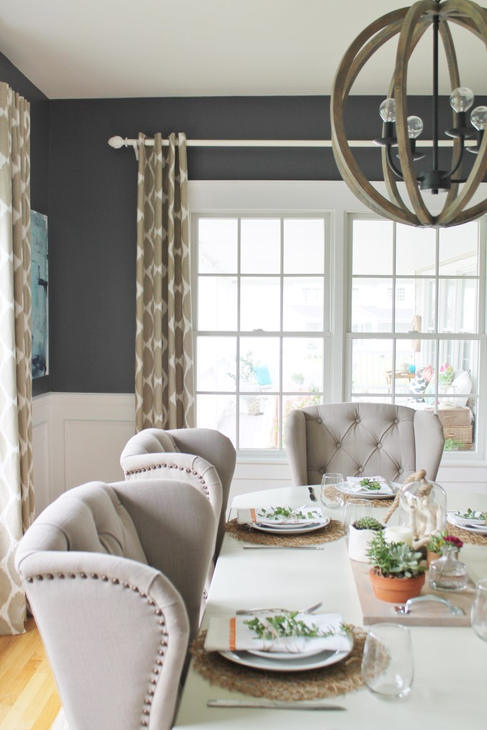 Summer Tour & Dining Room Reveal-Birch Lane Chandelier