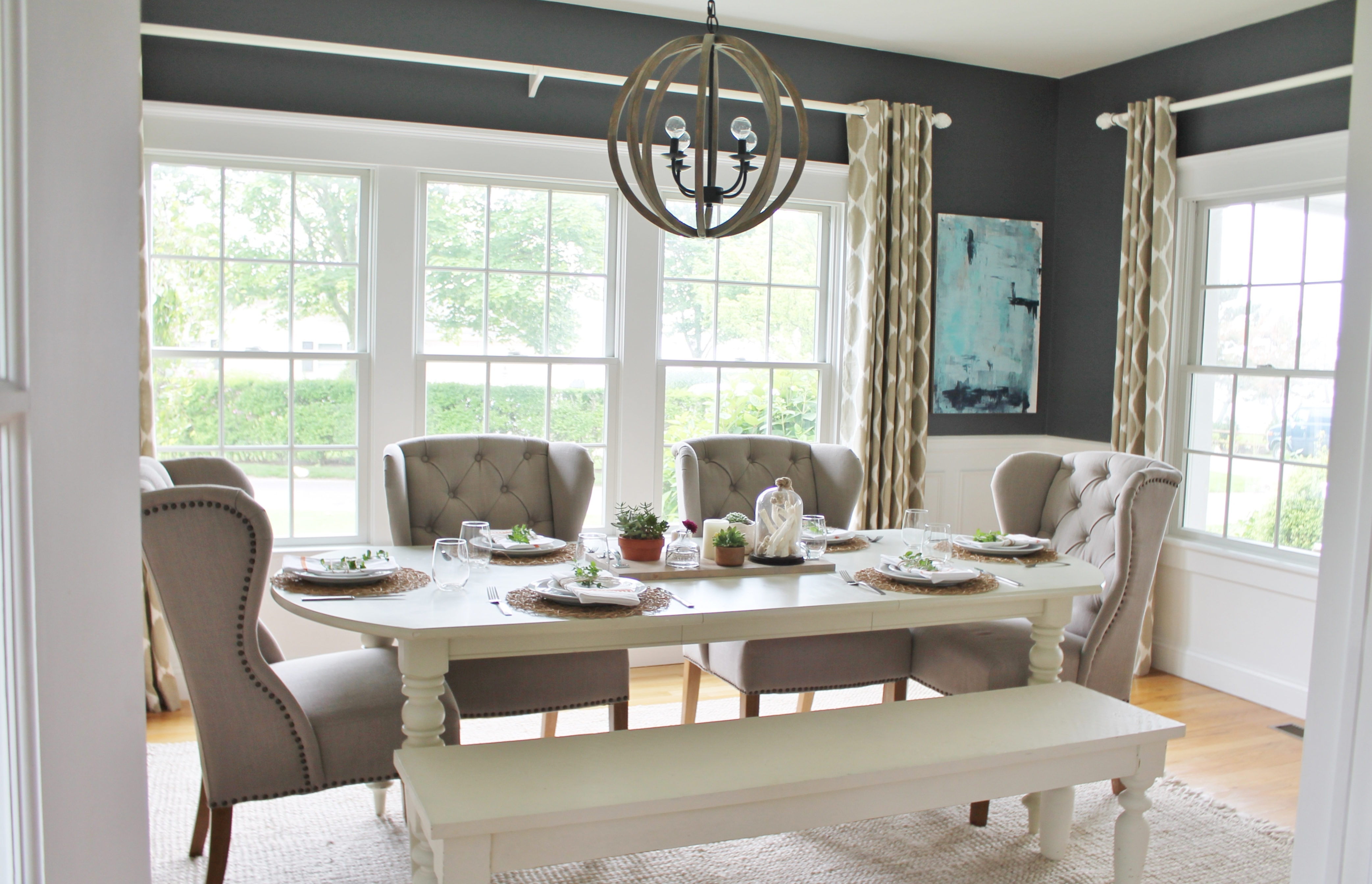Modern Farmhouse Dining Room: Summer Tour-Dining Room Reveal