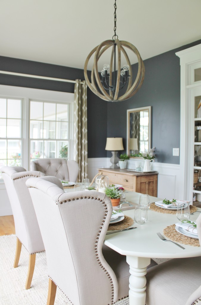 Summer Tour & Dining Room Reveal-Navy & Gray
