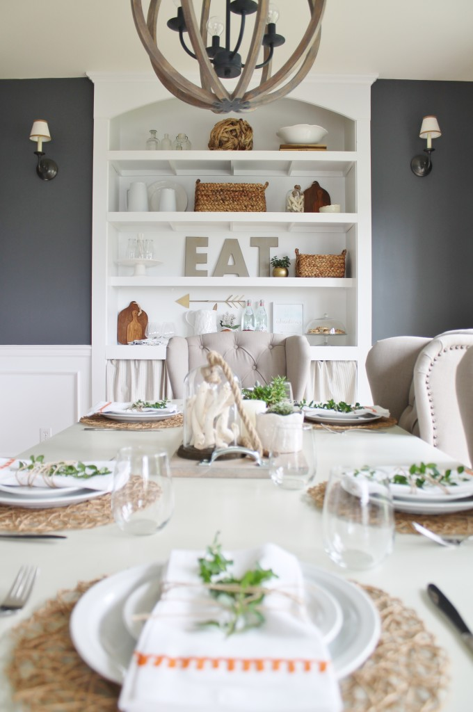 Summer Tour & Dining Room Reveal-Navy, Gray & Orange