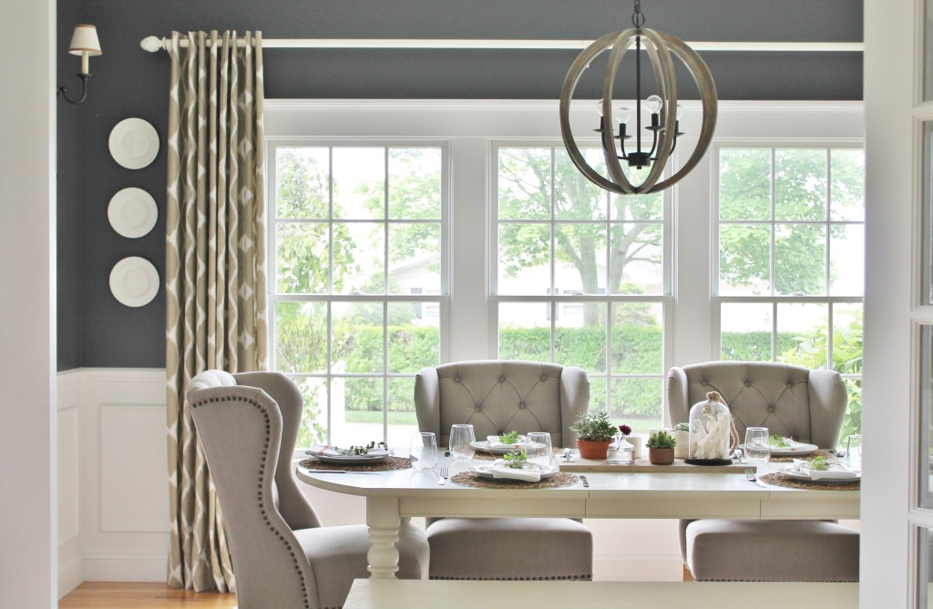 Summer Tour Dining Room Reveal Navy Walls