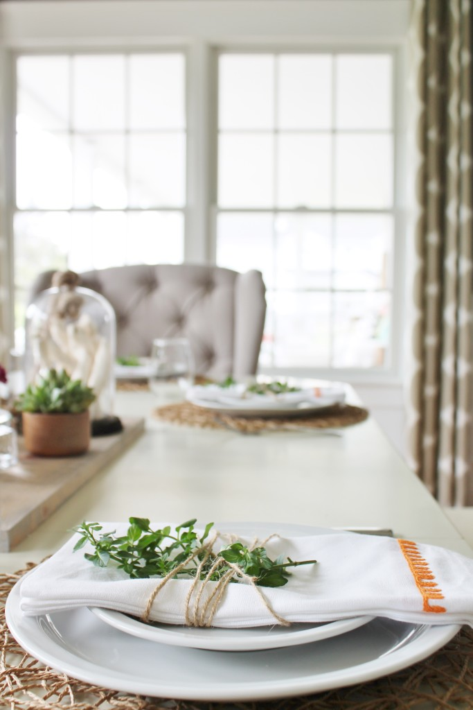 Summer Tour & Dining Room Reveal-Place Setting With Mint