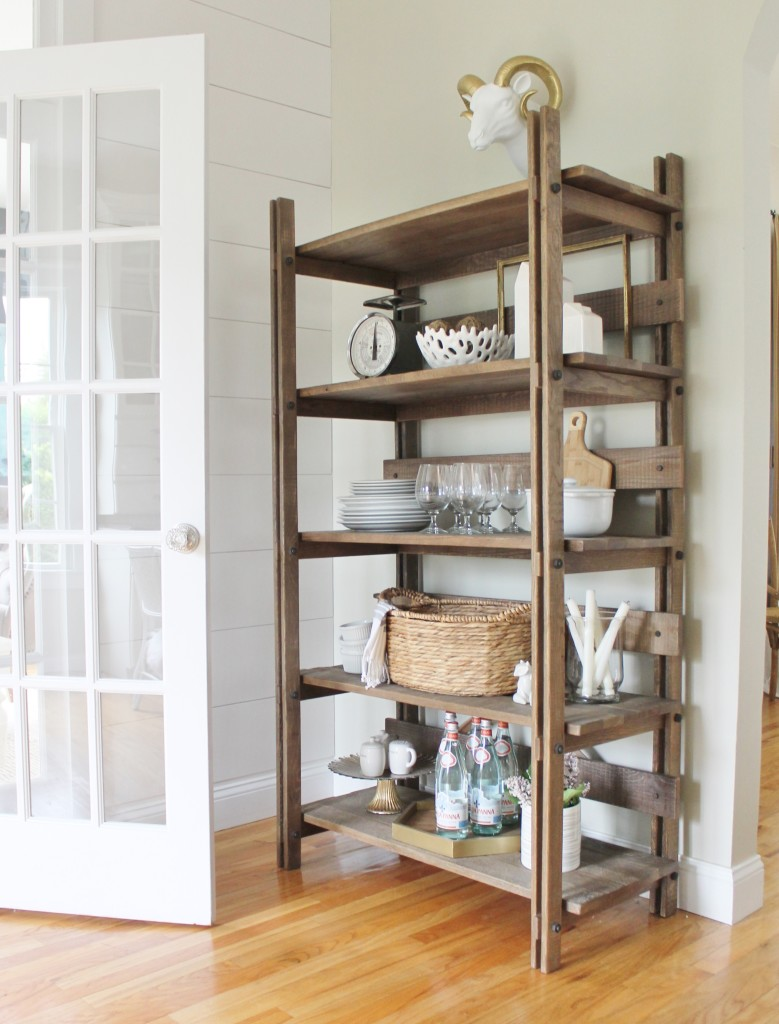 Summer Tour & Dining Room Reveal-Summer Kitchen Shelf