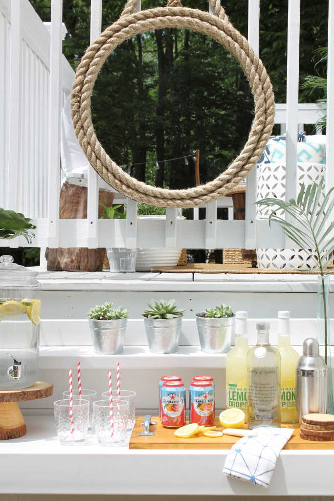 Lowe's Spring Makeover-Turn a Potting Bench into an Outdoor Bar
