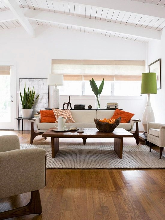 ... White Wall Ideas Living Room. Bhg Style Spotters