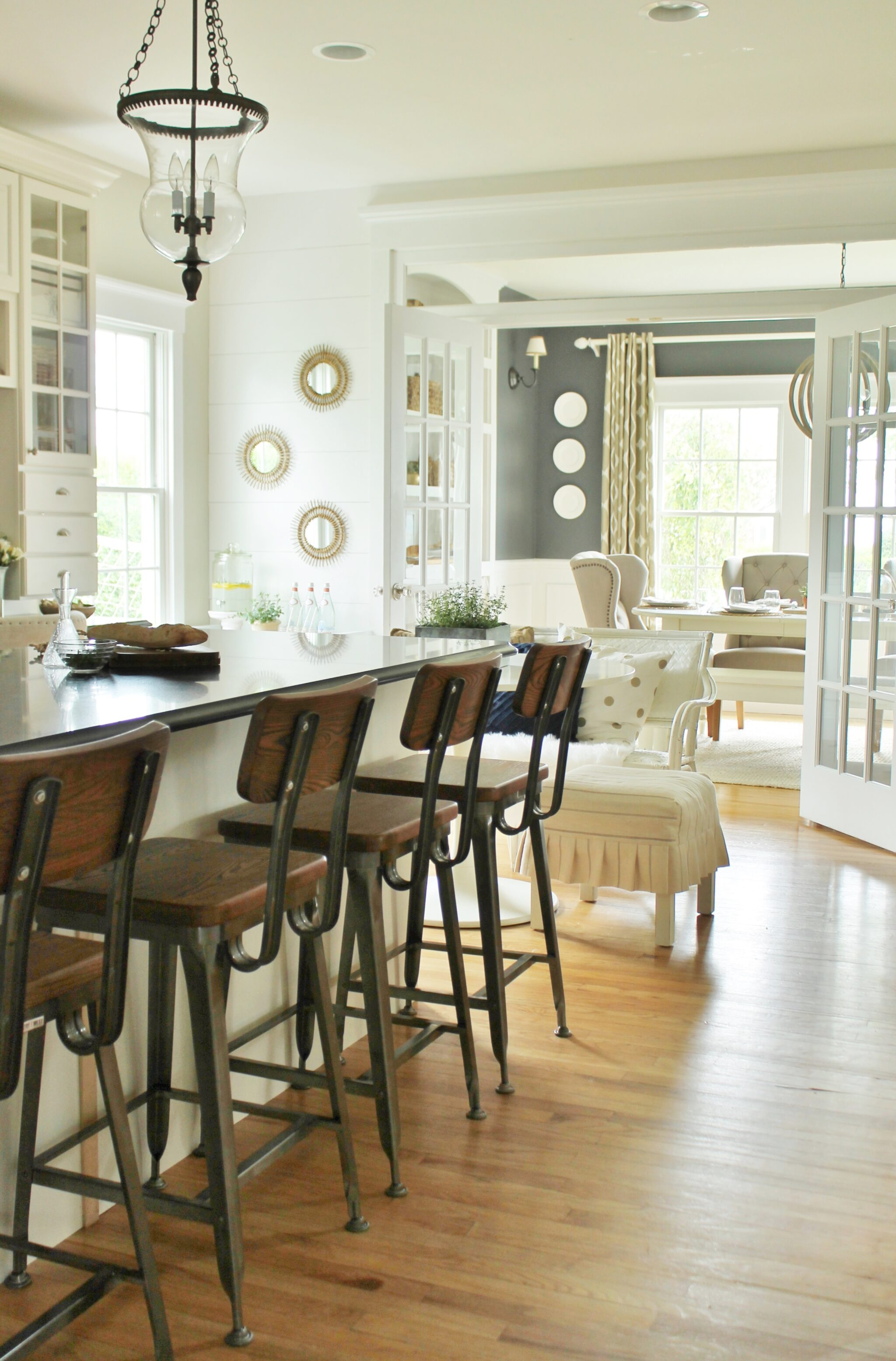 Modern Farmhouse Barstools u0026 White Kitchen & Modern Farmhouse Kitchen Barstools Revealed - City Farmhouse islam-shia.org