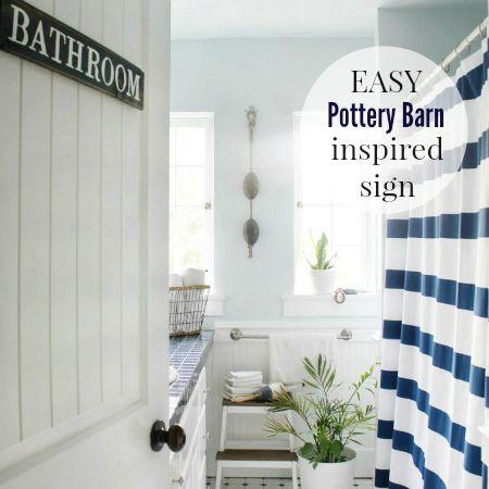 Easy Pottery Barn Inspired Sign