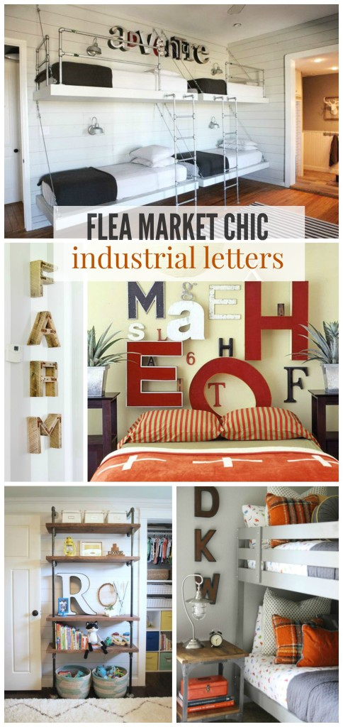 Flea Market Chic-Industrial Letter Ideas