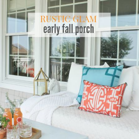 Early Fall Rustic Glam Porch