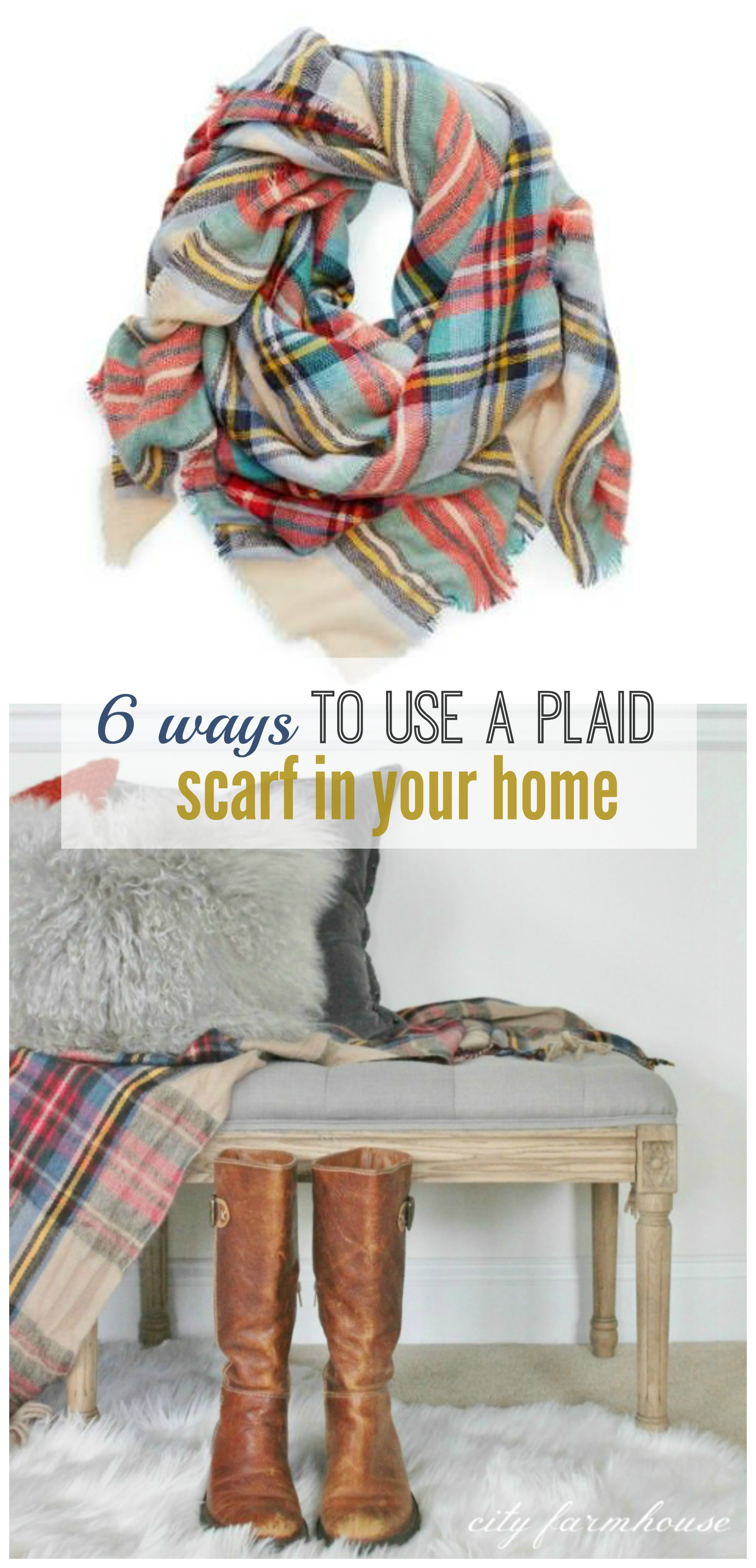 How To Decorate A Long Living Room With Windows: 6 Ways To Use A Plaid Scarf In Your Home
