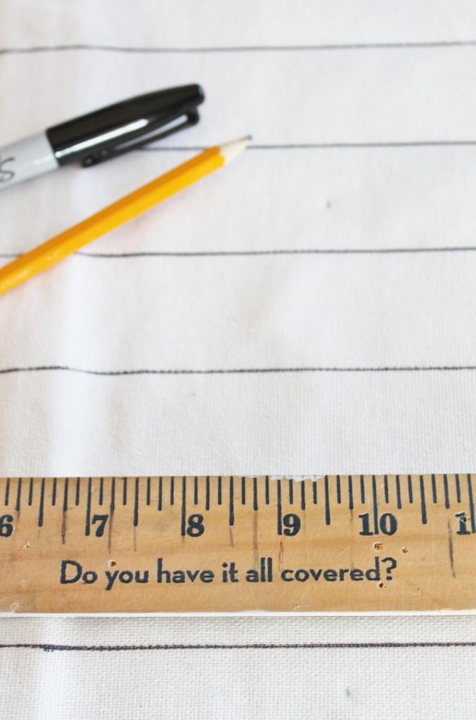 DIY Sharpie Grid Pillow for Under $5